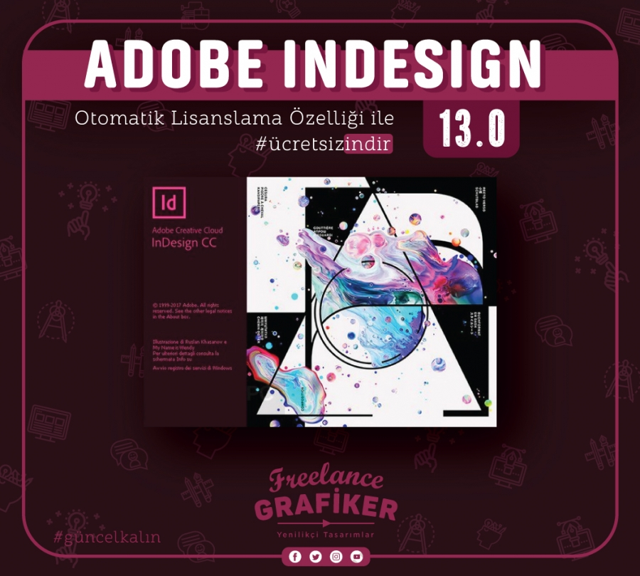 Yeni! Adobe Indesign 13.0